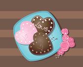 Valentine cookie — Stock Vector