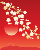 China blossom background — Stock Vector