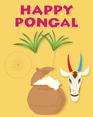 Happy pongal — Stockvector
