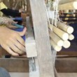 Stock Video: Silk weaving