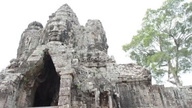 Bayon of angkor — Stock Video