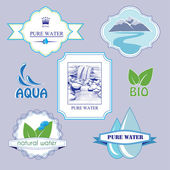 Water labels — Stock Vector