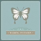 Wedding invitation, card template, couple — Stock Vector