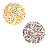 Ishihara Test. daltonism,color blindness disease. — Stock Vector