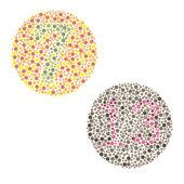 Ishihara Test. daltonism,color blindness disease. — Stock Vector