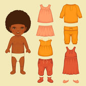 Paper doll, isolated clothing icons — Stock Vector