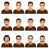 Avatar people icon, man — Vector de stock