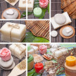 Collage of handmade Soap with natural ingredients — Stock Photo