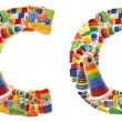 Wooden toys alphabet - letter C — Stock Photo