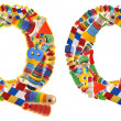 Wooden toys alphabet - letter Q — Stock Photo