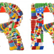 Wooden toys alphabet - letter R — Stock Photo