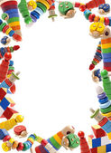 Color toys border — Stock Photo