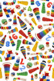 Color toys pattern — Stock Photo