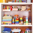 Shelf with toys — Stok fotoğraf