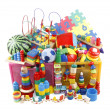 Box with many toys — Stock Photo