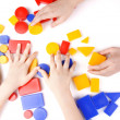 Colored wooden toys — Stock Photo