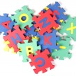 Alphabet puzzle pieces — Stock Photo #35641011