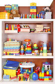 Shelf with toys — Stock Photo