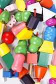 Colorful wooden beads toy — Stock Photo