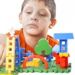 Boy playing with color toy — Stock Photo