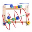 Top view wooden toy — Stock Photo