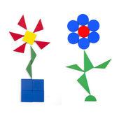 Two flowers of geometric figures — Stock Photo