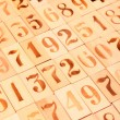 Background of the old wood numbers — Stock Photo #44179811