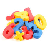 Multicolored learning numbers — Stock Photo