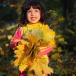Little girl in autumn park — Stock Photo #14128631