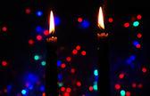 Candele su sfondo luminoso — Foto Stock
