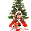 Little girl and christmas tree — Stock Photo #36477479