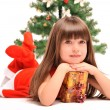 Little girl and christmas tree — Stock Photo #36533759