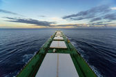 Cargo ship underway — Stock Photo