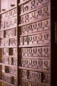 Vintage arkivskåp — Stockfoto
