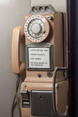Antique pay phone — Stock Photo