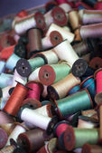 Antique sewing thread — Stock Photo