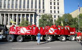 PSAC Union Truck and Banners — Stock Photo