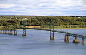 Bridge on St. Lawrence River — Stock Photo