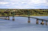 Bridge on St. Lawrence River — Stock Photo