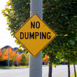 No Dumping Sign - Stock fotografie