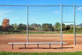 Suburban Baseball Diamond — Stock Photo