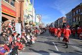 Desfile de papá noel de toronto — Foto de Stock