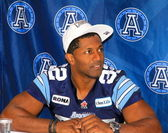 Toronto Argonauts Players Signing Autographs — Stock Photo