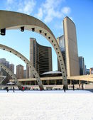 Toronto Nathan Phillips Square — Stock Photo