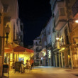 Stock Photo: Night life of small Spanish town.