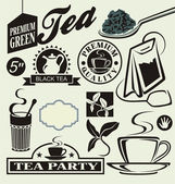 Vector set for tea — Stock Vector