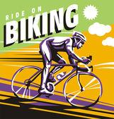 Biking — Stock Vector