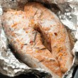 Salmon steak ready to be cooked — Stock Photo