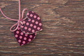 Two hearts on wooden board — Stock Photo