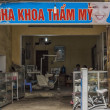 Vietnam Duong Lam - March 2012: Dental office in rural village. — Stock Photo